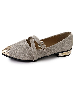 Color Block  Flat  Point Toe  Date Flat