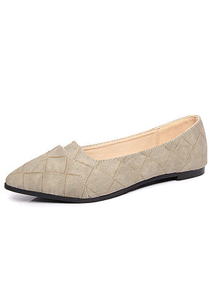 Plain  Low Heeled  Faux Leather  Flat
