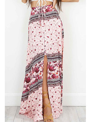 High Slit  Printed Skirts