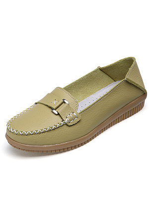 Plain  Round Toe  Outdoor Flat & Loafers