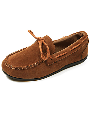 Plain  Flat  Faux Suede  Criss Cross  Casual Flat
