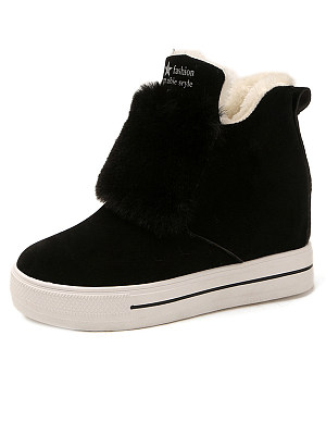 Letters  Flat  Faux Suede  Casual Sneakers