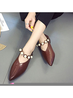 Pearl Point Toe Flats
