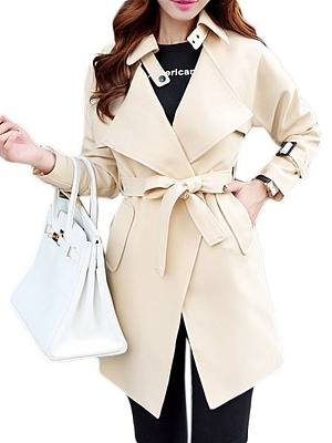 Bow Classical Lapel Trench Coats