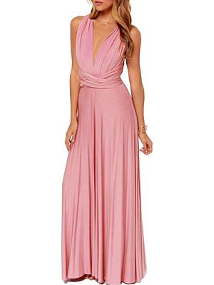 Halter Empire Line Maxi Dress