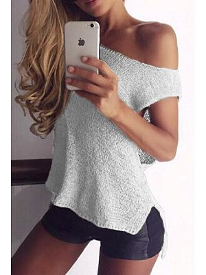 Round Neck Knit Sleeveless T-Shirt