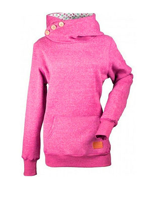 Decorative Buttons Kangaroo Pocket Plain Hoody